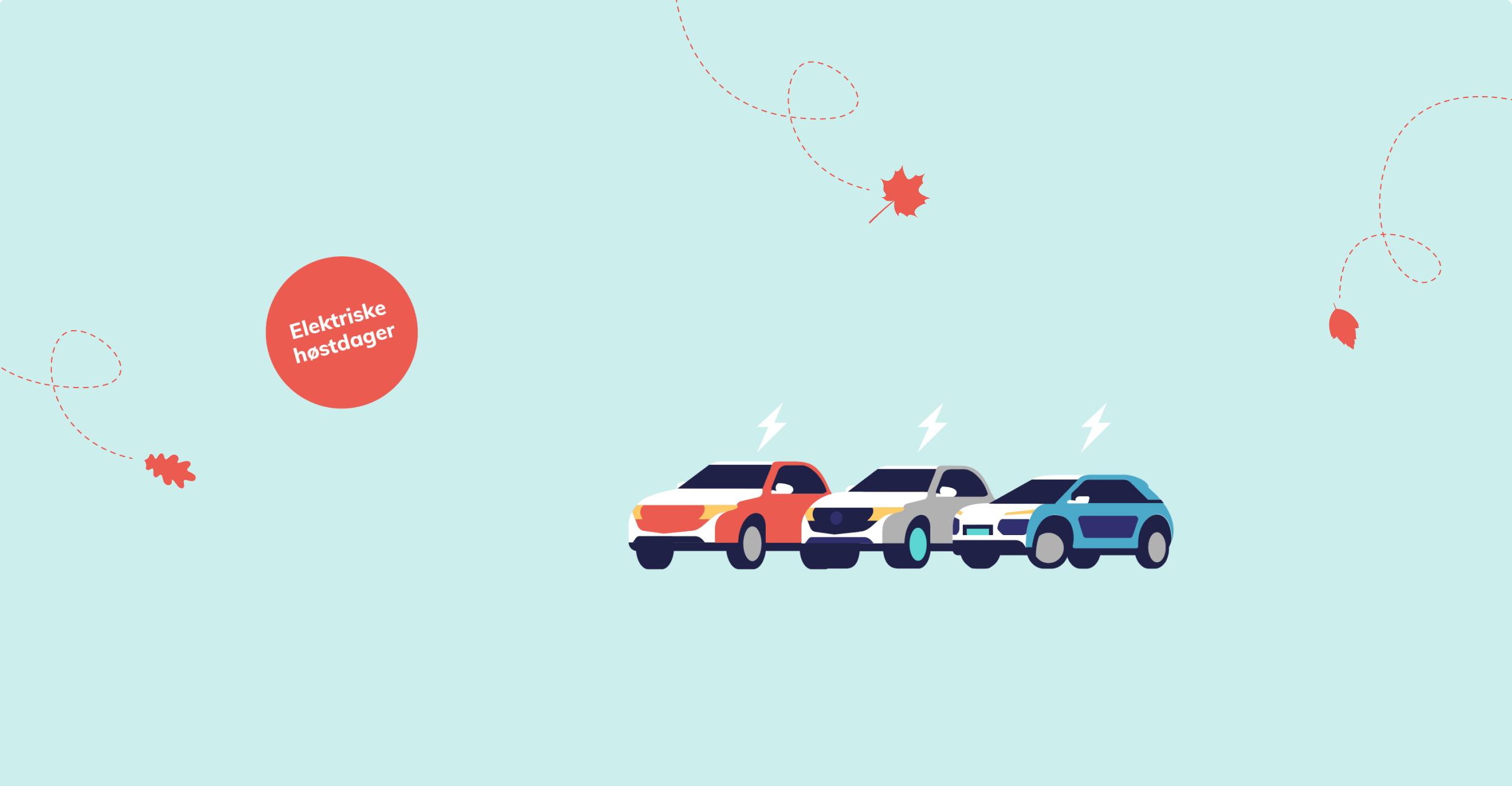 Grafikk med biler og til høstkampanje