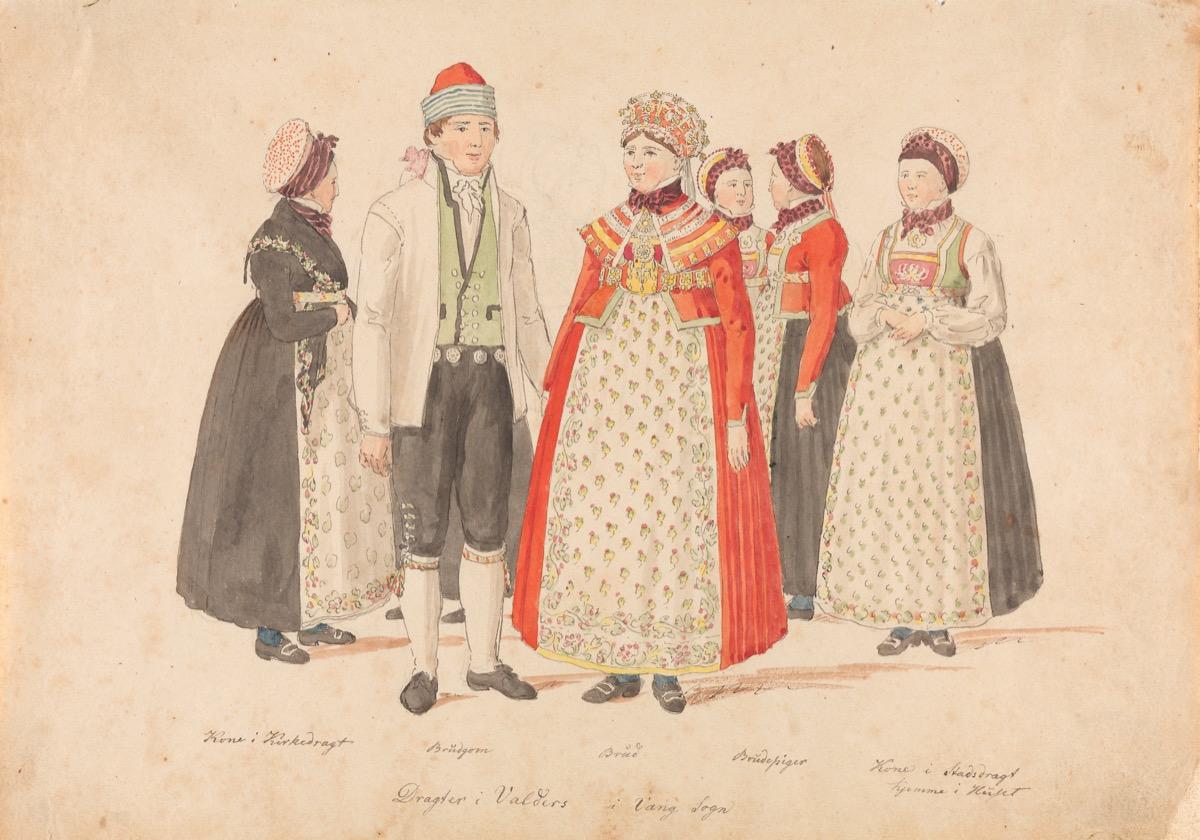 Johannes Flintoe, Valders i Vang Sogn