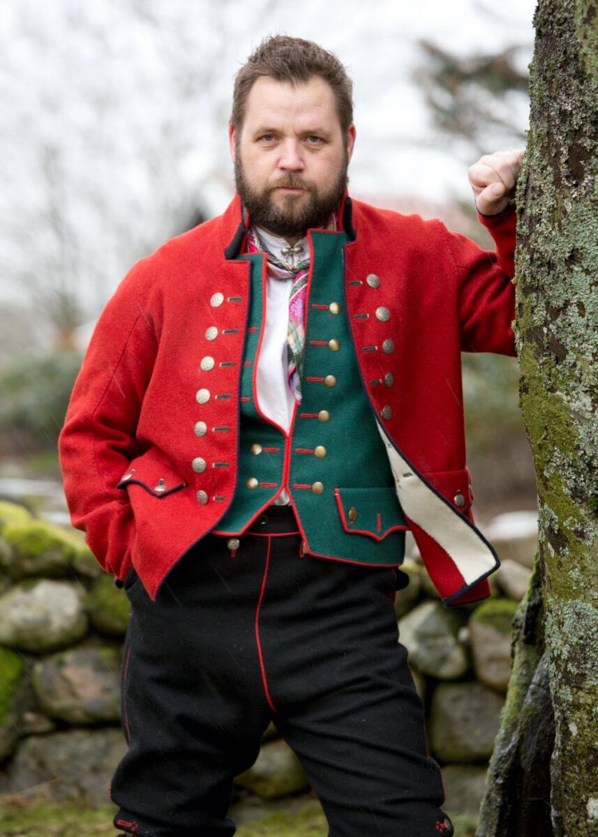 Rekonstruert mannsbunad fra Rogaland