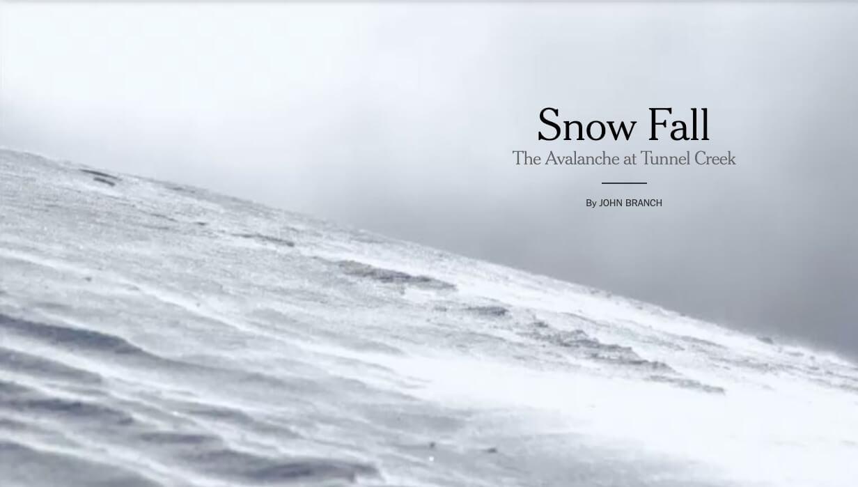Snowfall New York Times