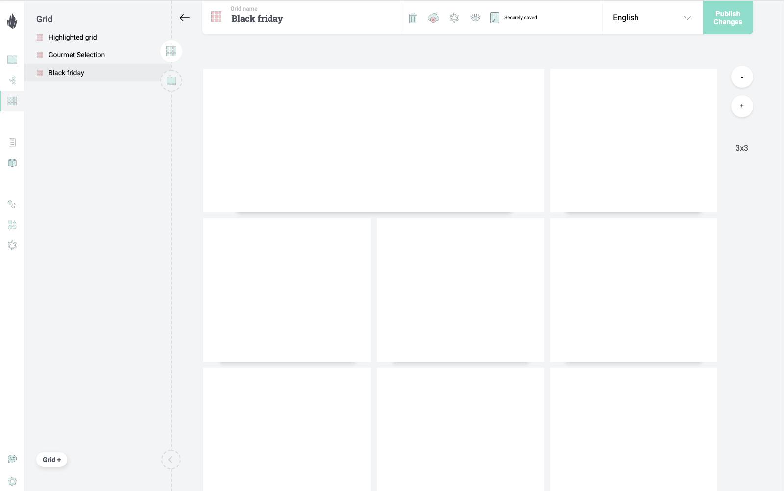Custom defined grid organizer
