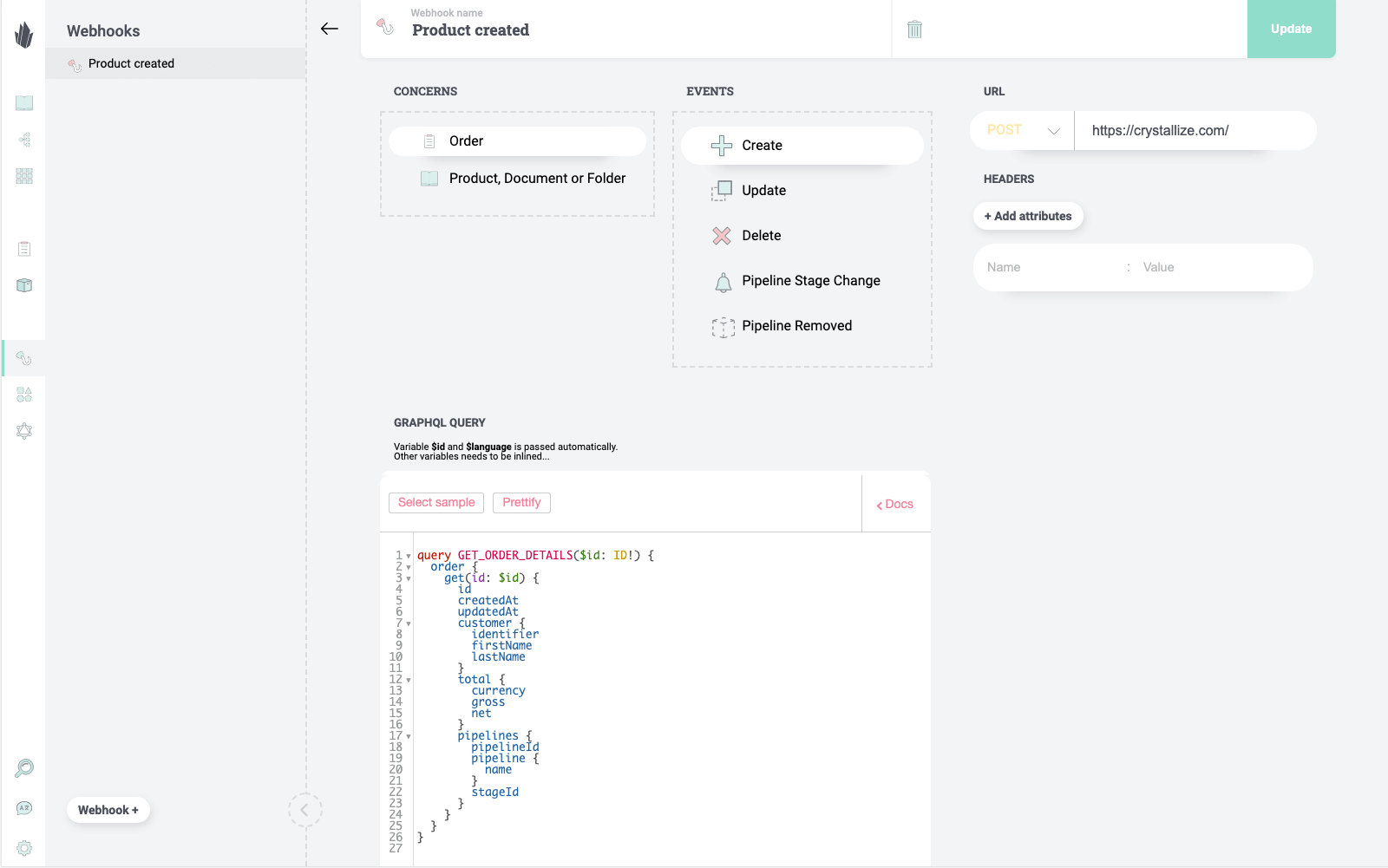 Webhooks with GraphQL