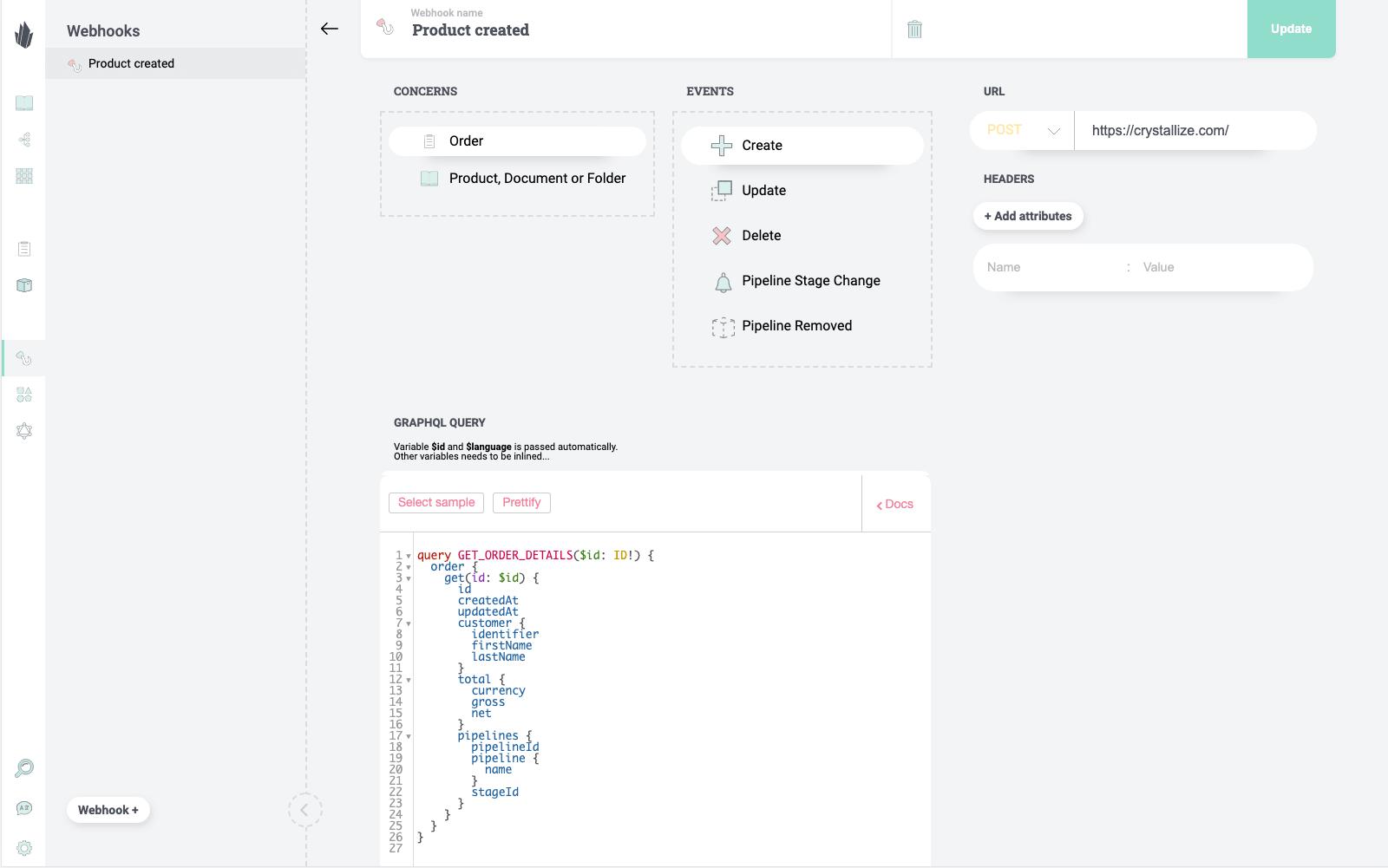 Webhooks API