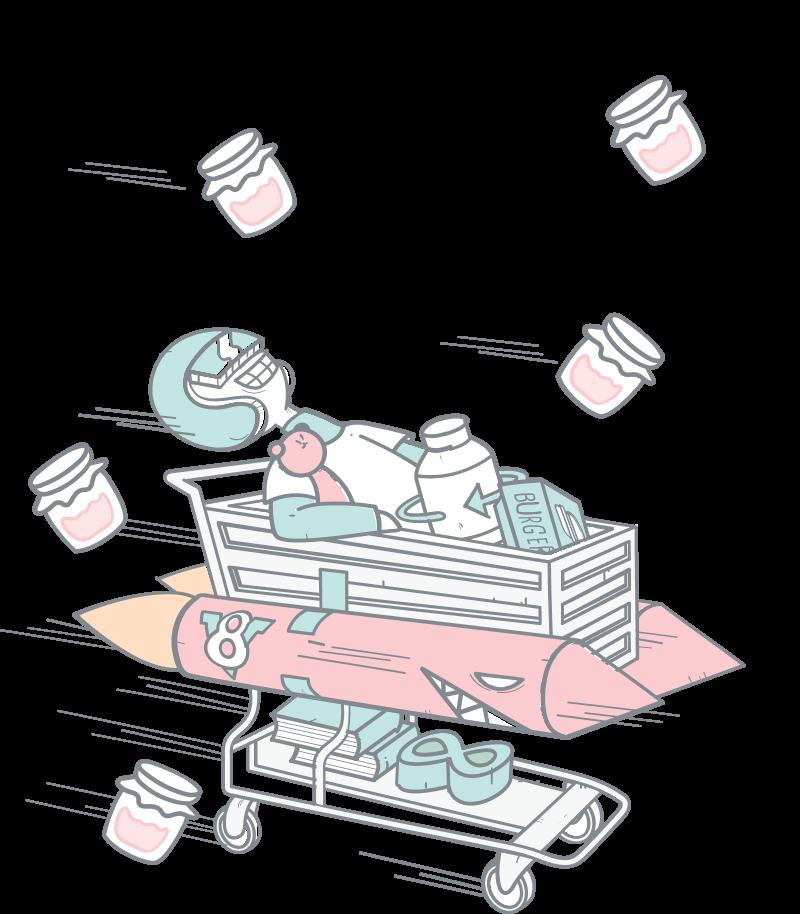 Speed illustration