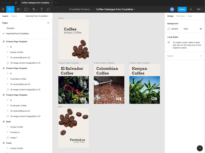 Figma coffee PDF catalogue