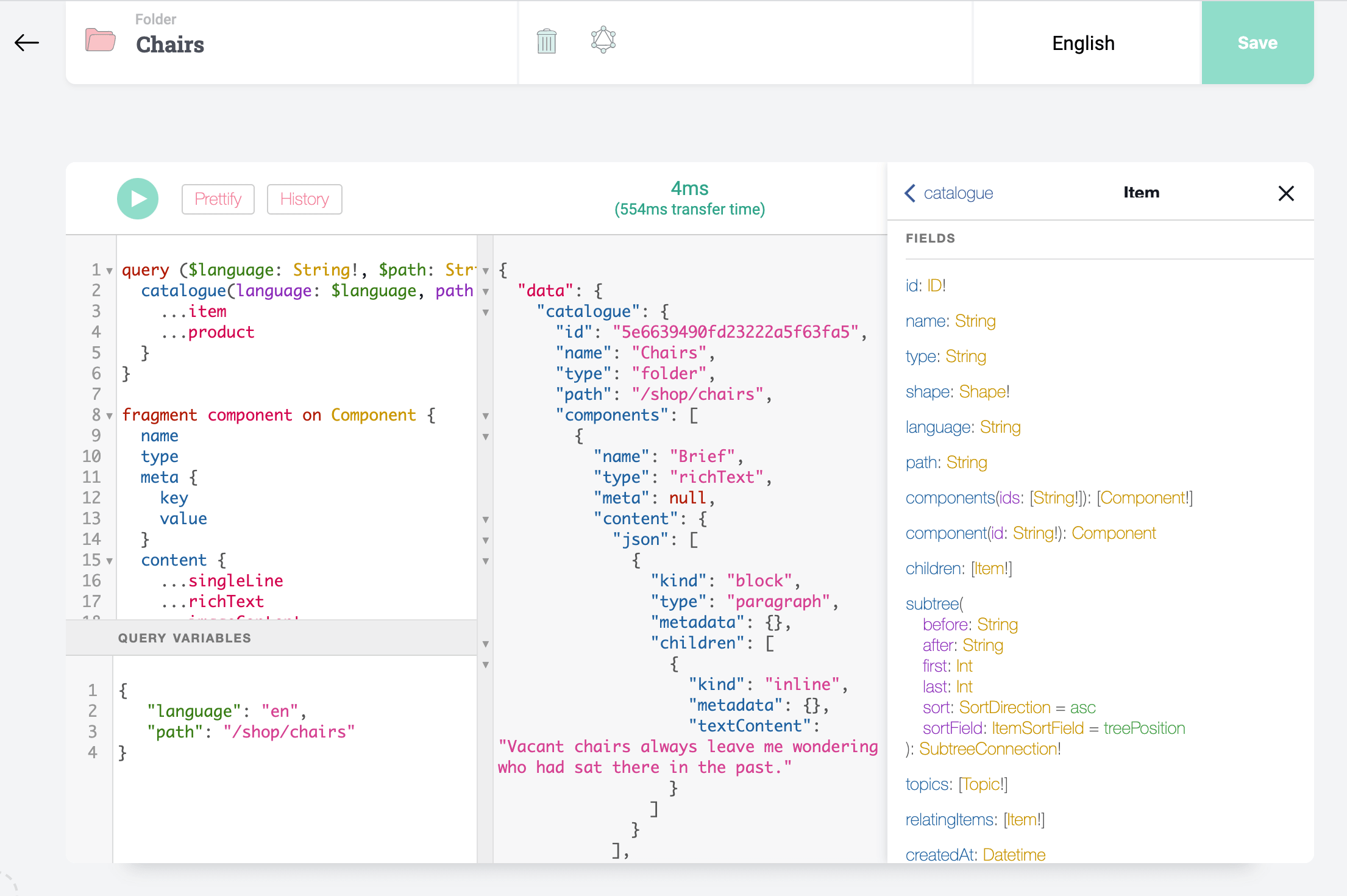 PIM eCommerce API with GraphQL Playground