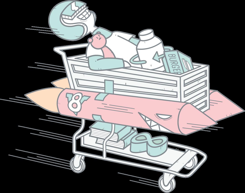 eCommerce cart illustration