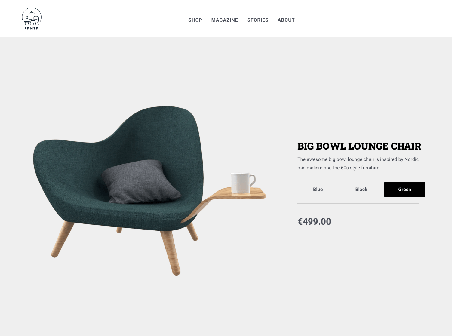Gatsby.JS eCommerce boilerplate screenshot