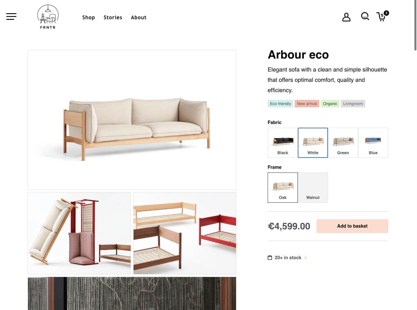 Gatsby eCommerce storefront screenshot