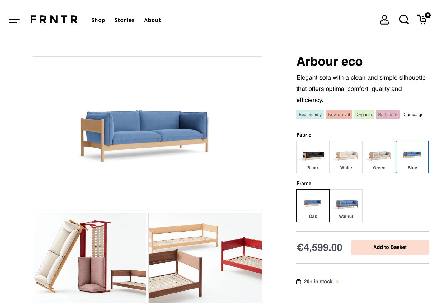 Next.js eCommerce storefront boilerplate screenshot