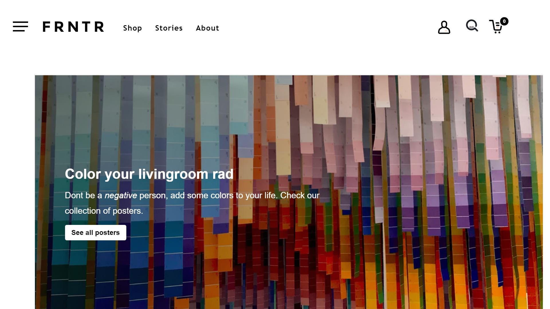 Screenshot of the product page eCommerce built Gatsby