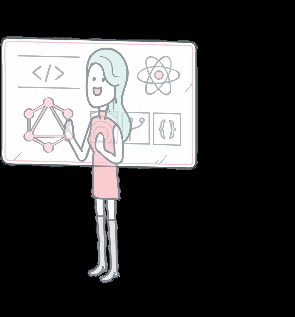 Customer director illustration