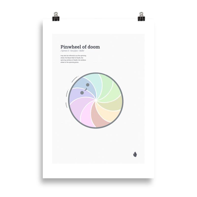 Pin wheel of doom poster