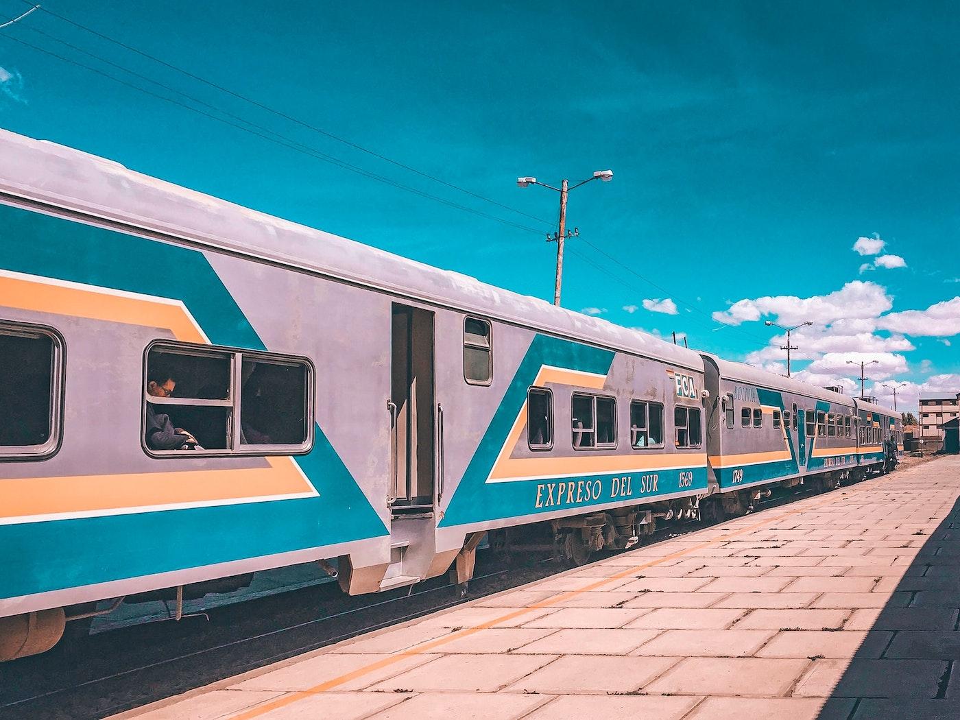 A retro train