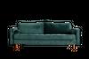 Blue velour sofa