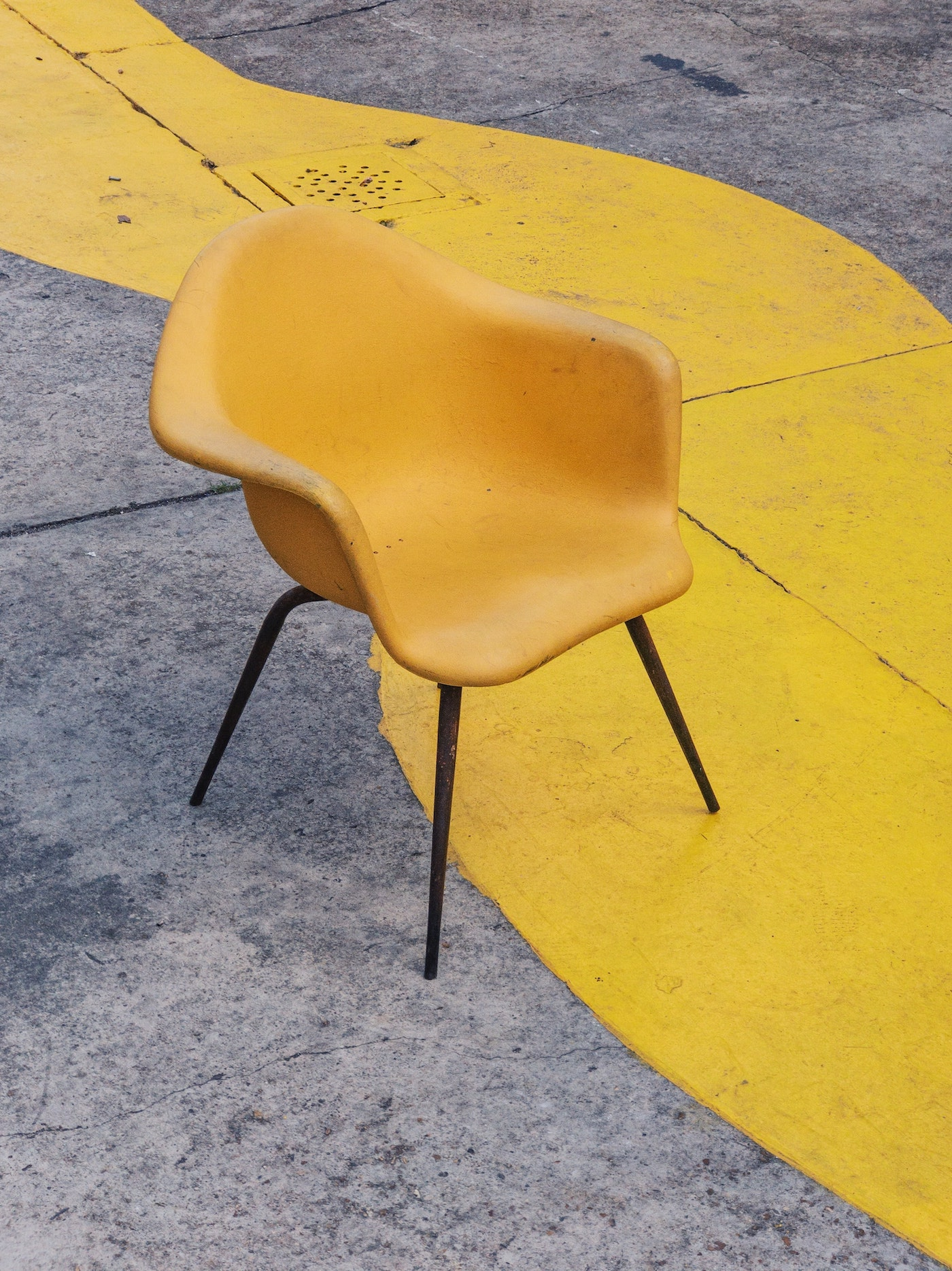Funky yellow chair