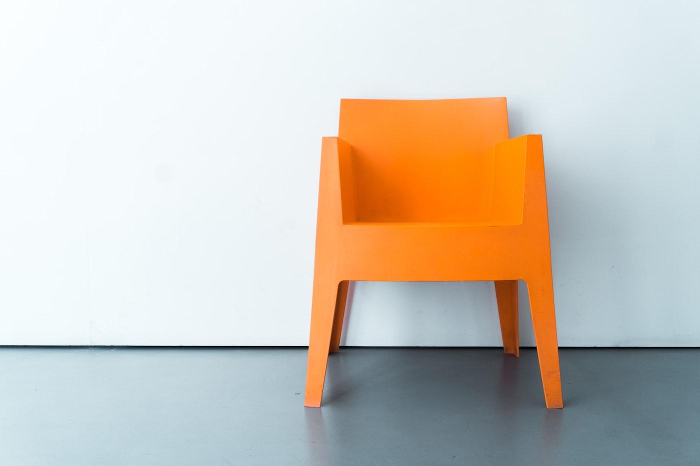 Bright orange chair