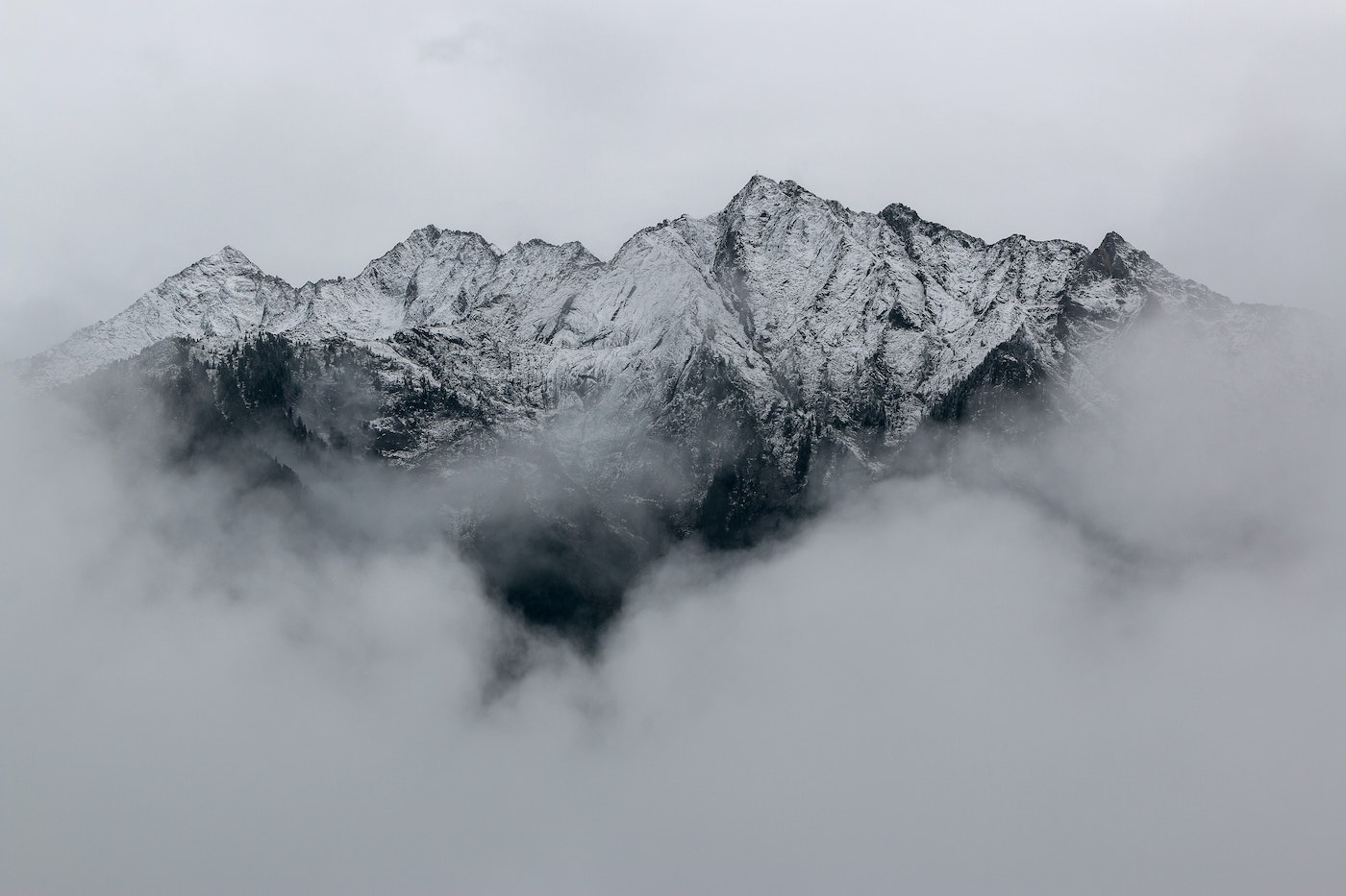 Mountain Hidden in Mist
