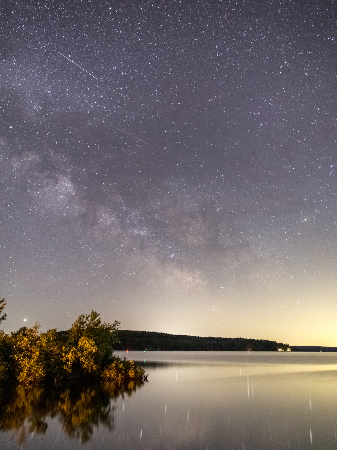 Milky Way with a Calm Lake