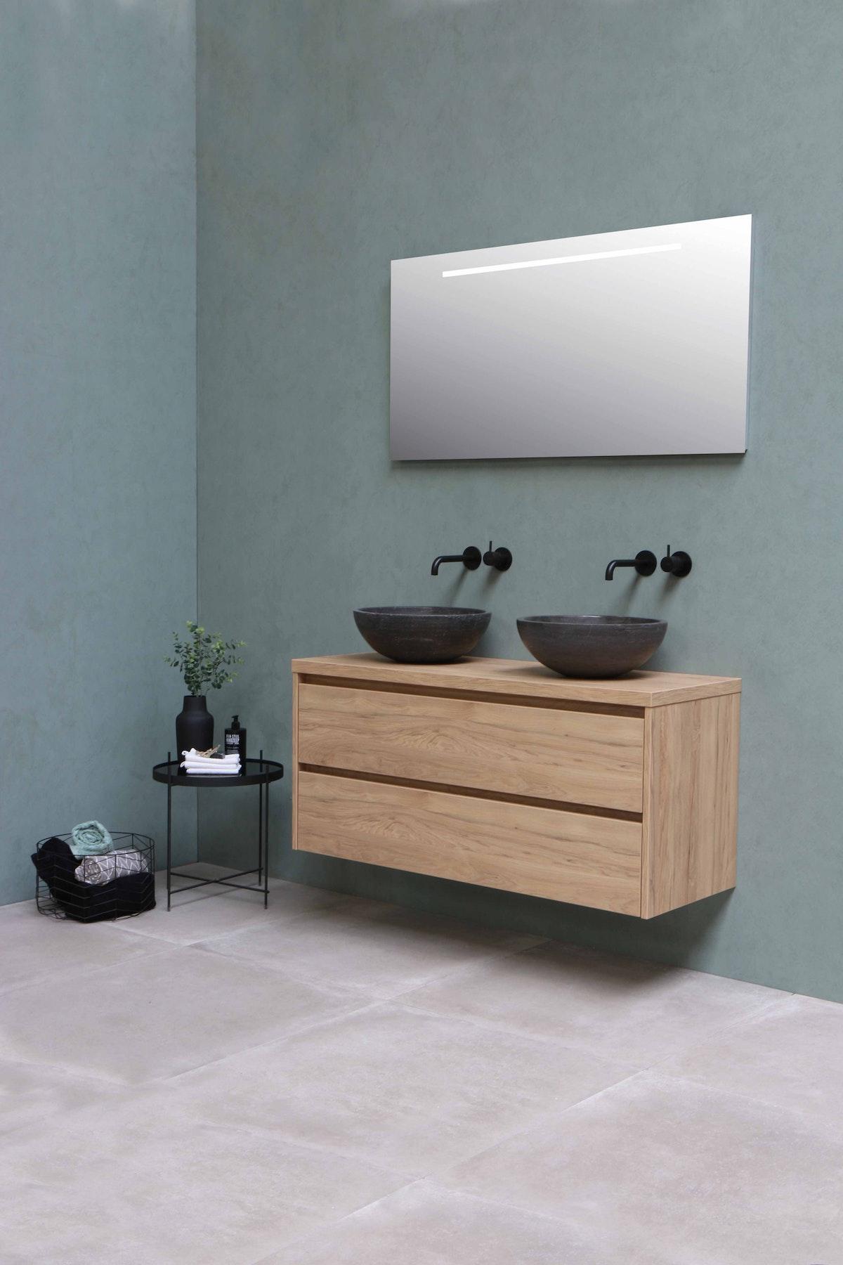 Mounted Bathroom Vanity in Oak