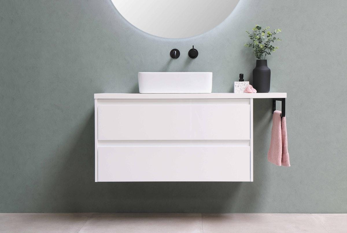 Mounted Bathroom Vanity in White