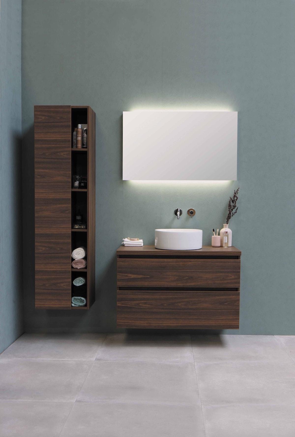 Mounted Bathroom Vanity Mahogany