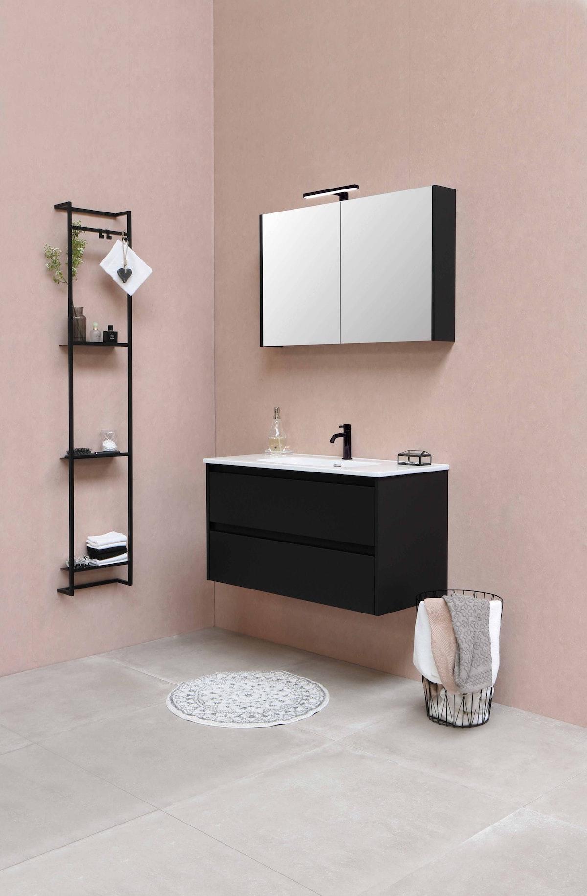 Minimal Bathroom Rack in Black