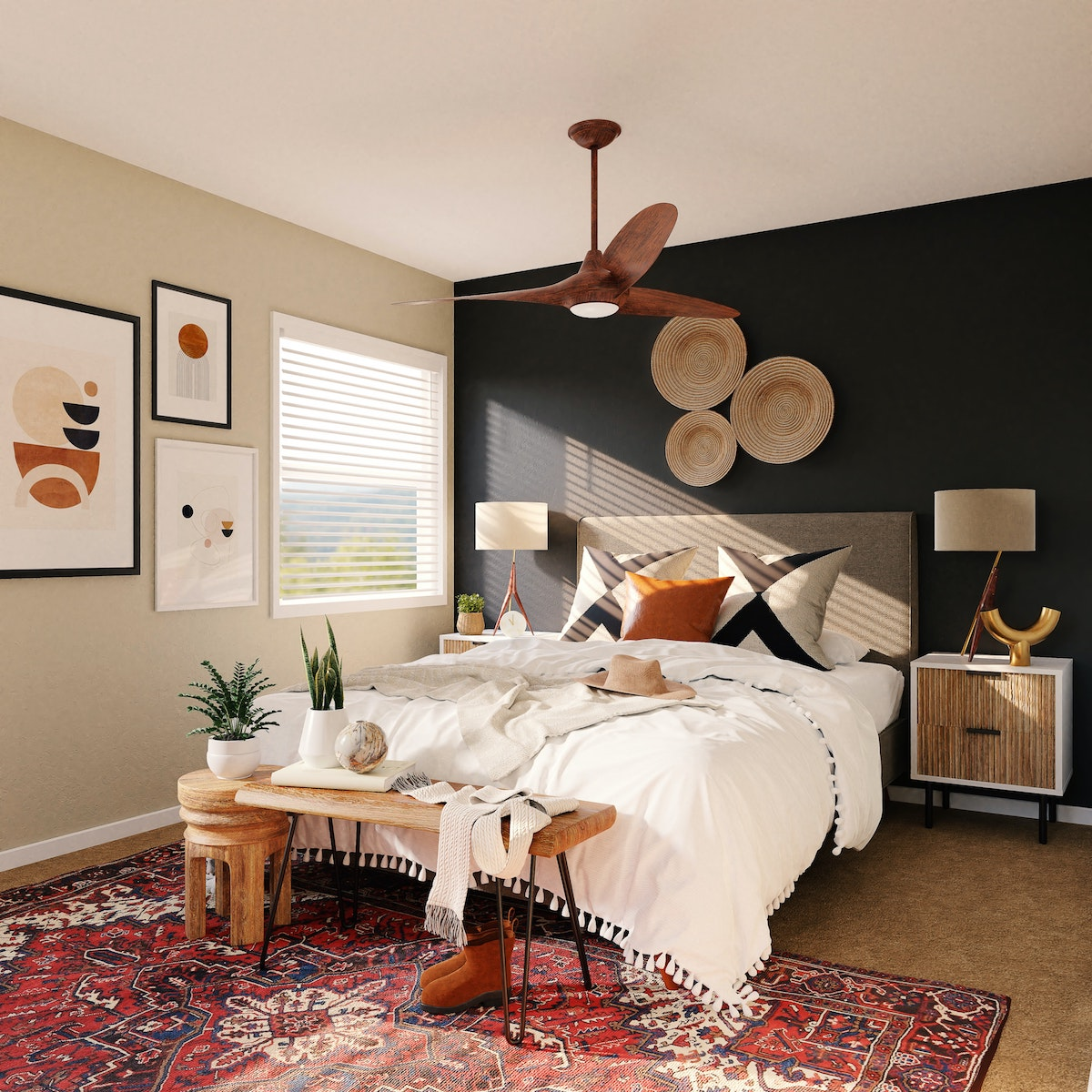 Queen Sized Bed in Gray