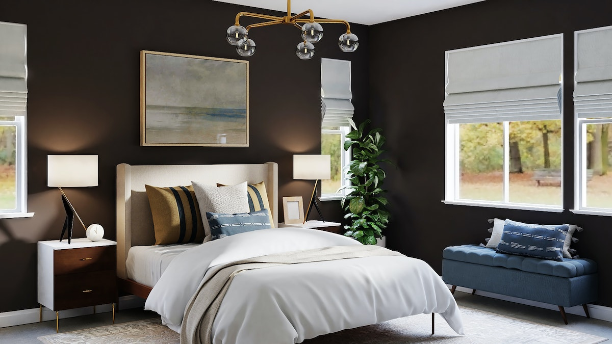 Queen Size Bed in Off white