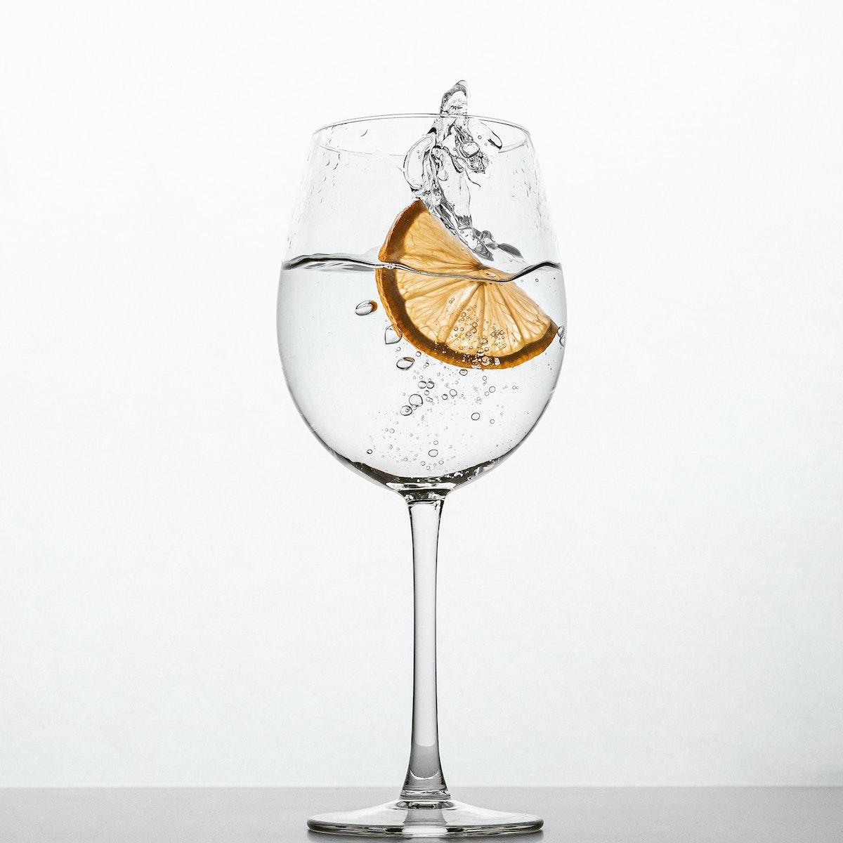 Round Wine Glass