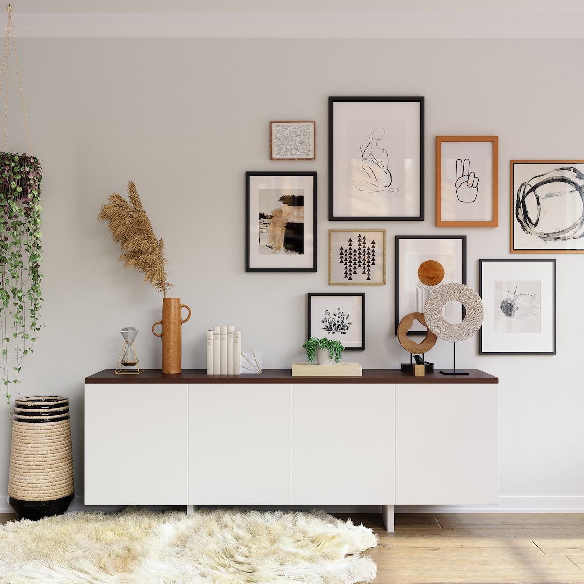 Oblong White Dresser