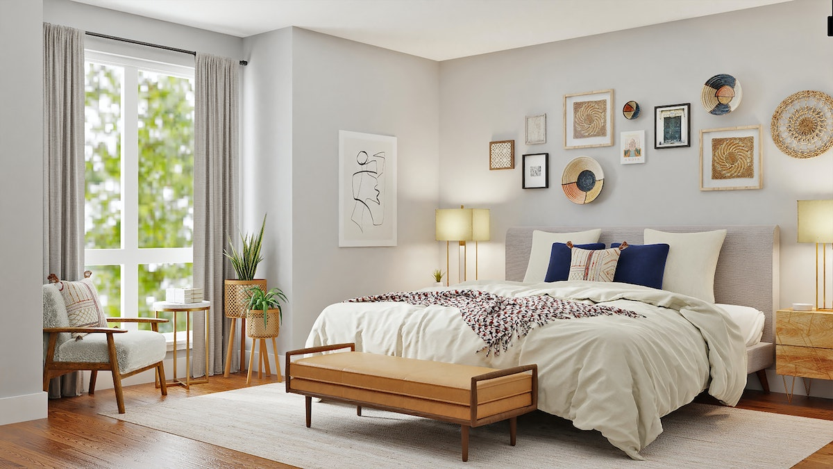 Gray Bed Frame King Size