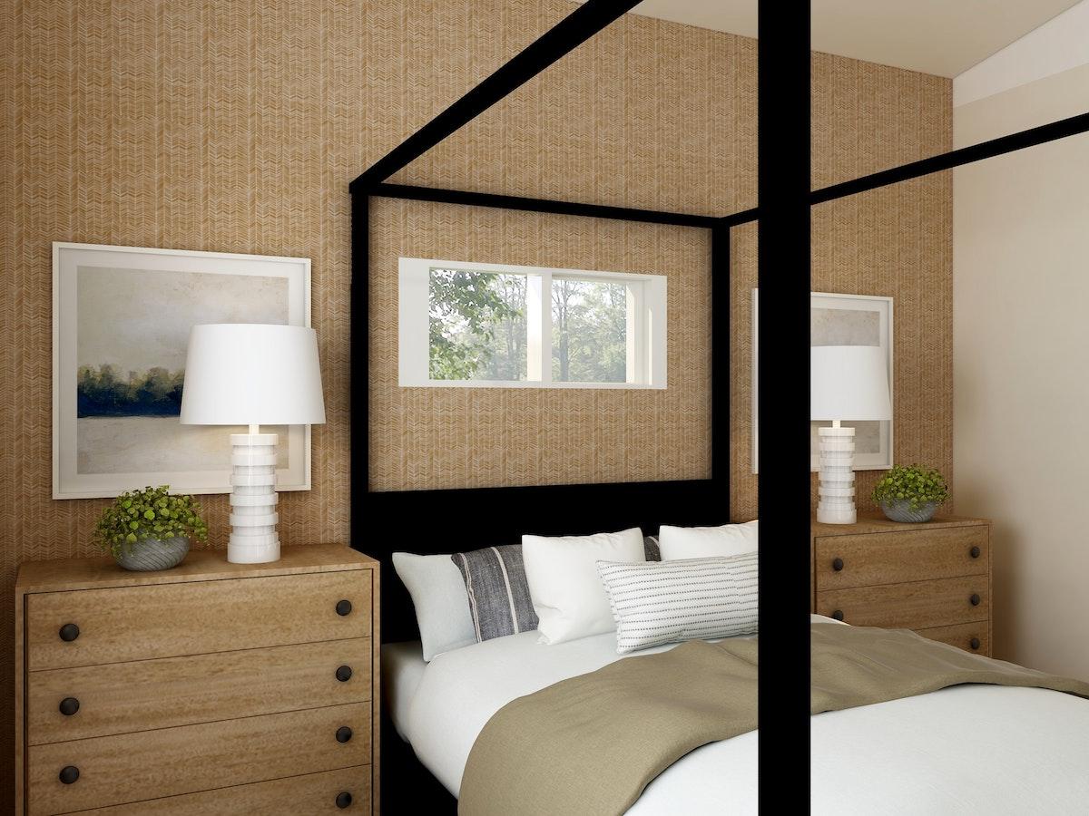 Black Framed Bed