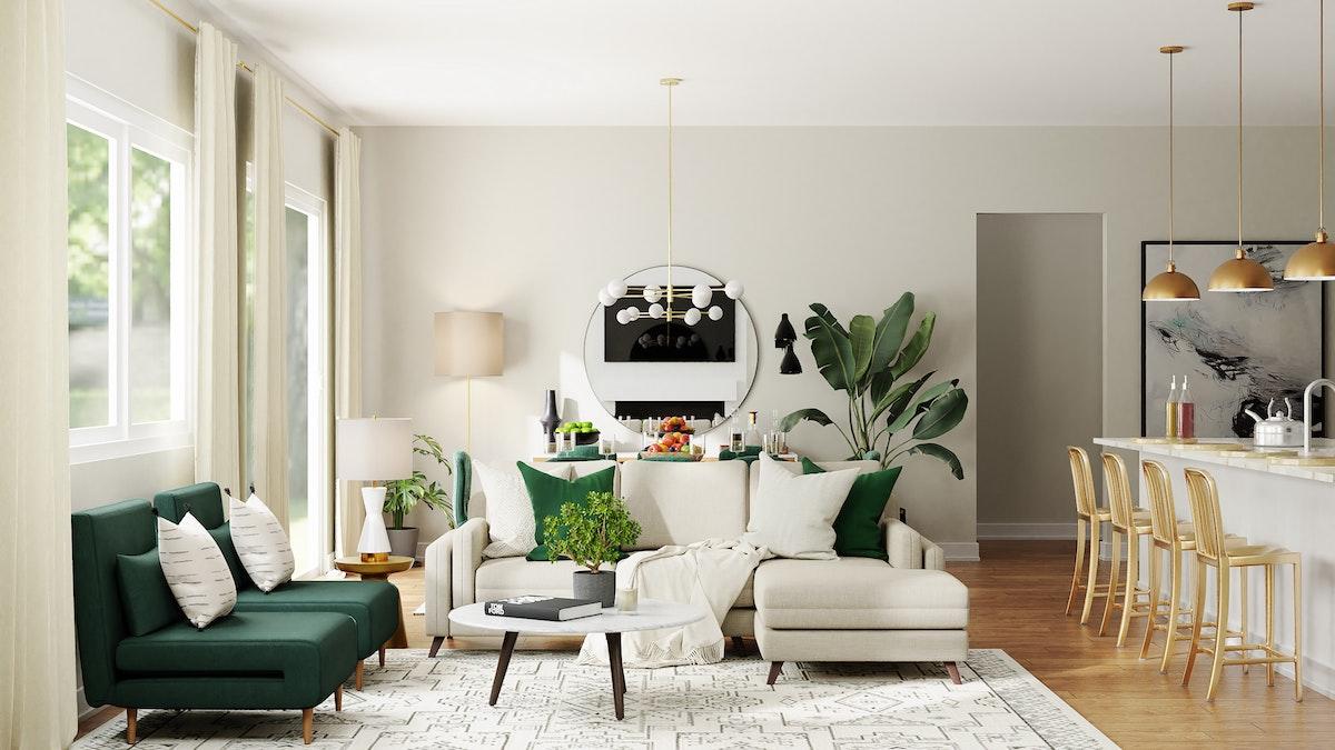 Small Off-White Sofa