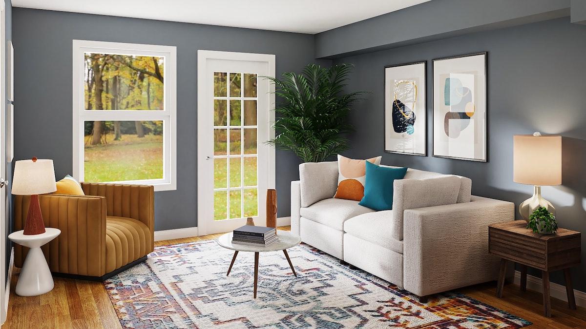 Small Gray Sofa