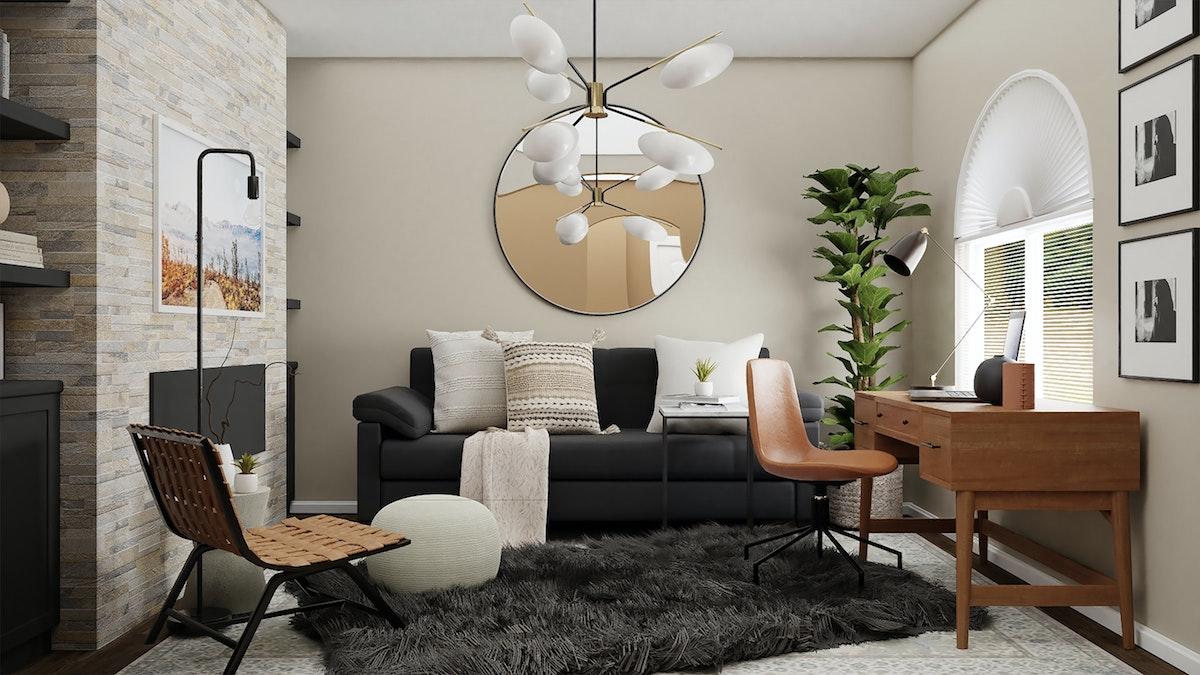 Small Black Sofa