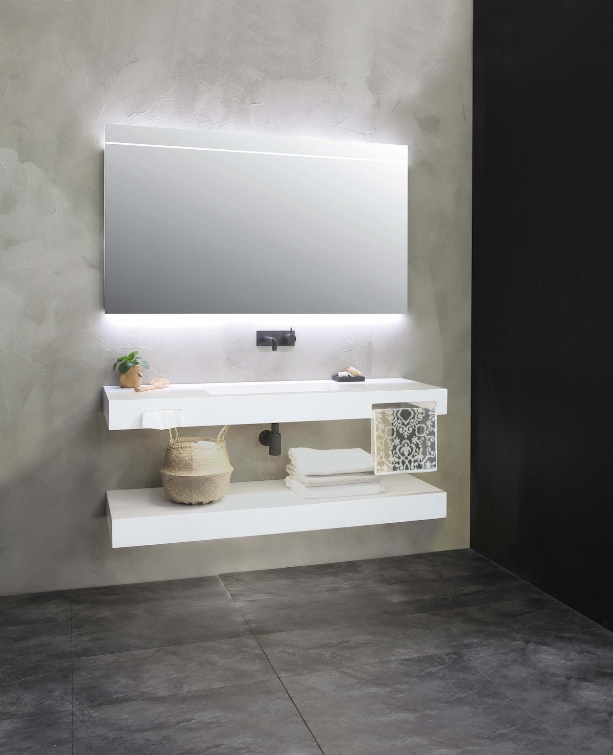 Mounted Bathroom Counter with Shelf
