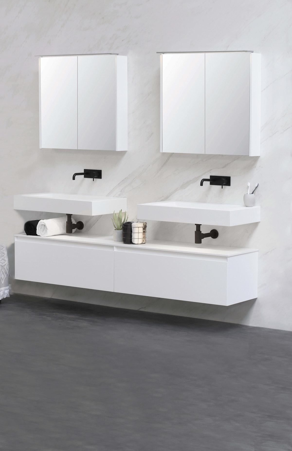 Mirrored Bathroom Cabinets
