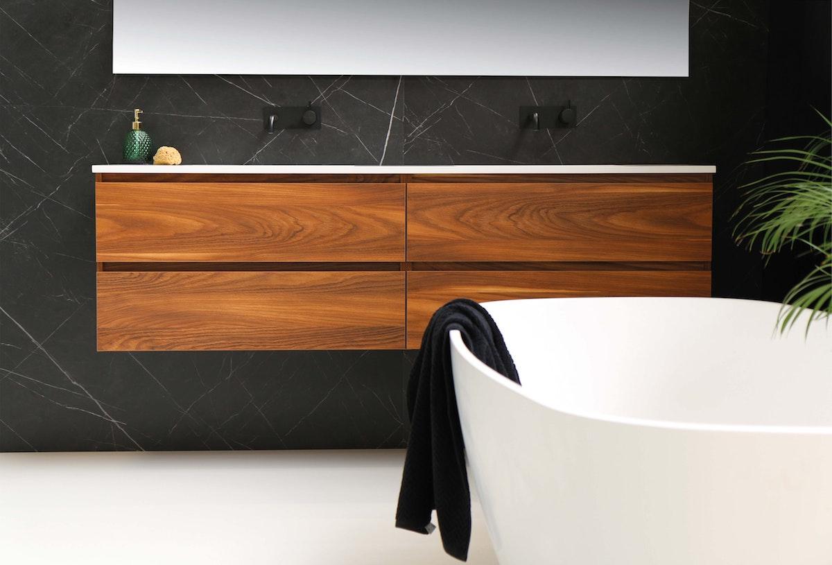 Mounted Bathroom Vanity in Treated Wood