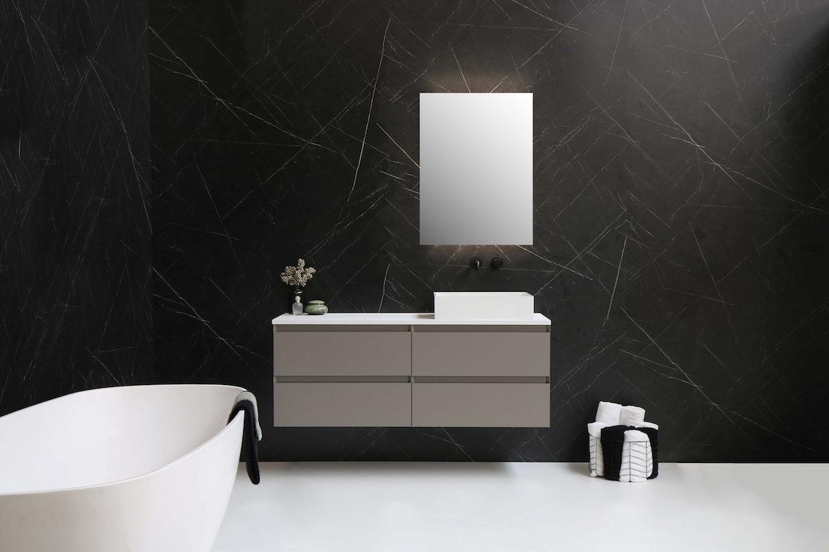Mounted Bathroom Vanity in Gray