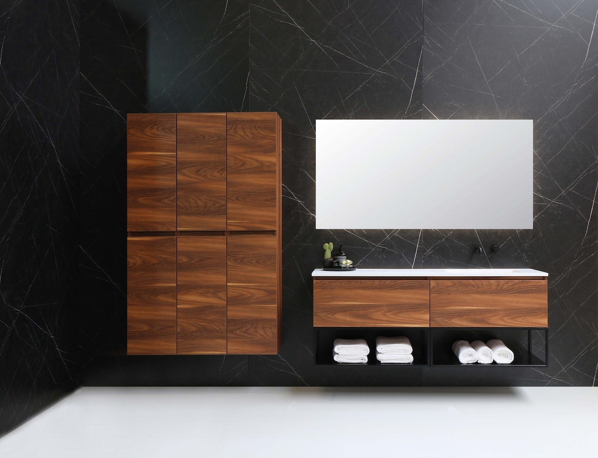 Large Mounted Cabinet in Treated Wood