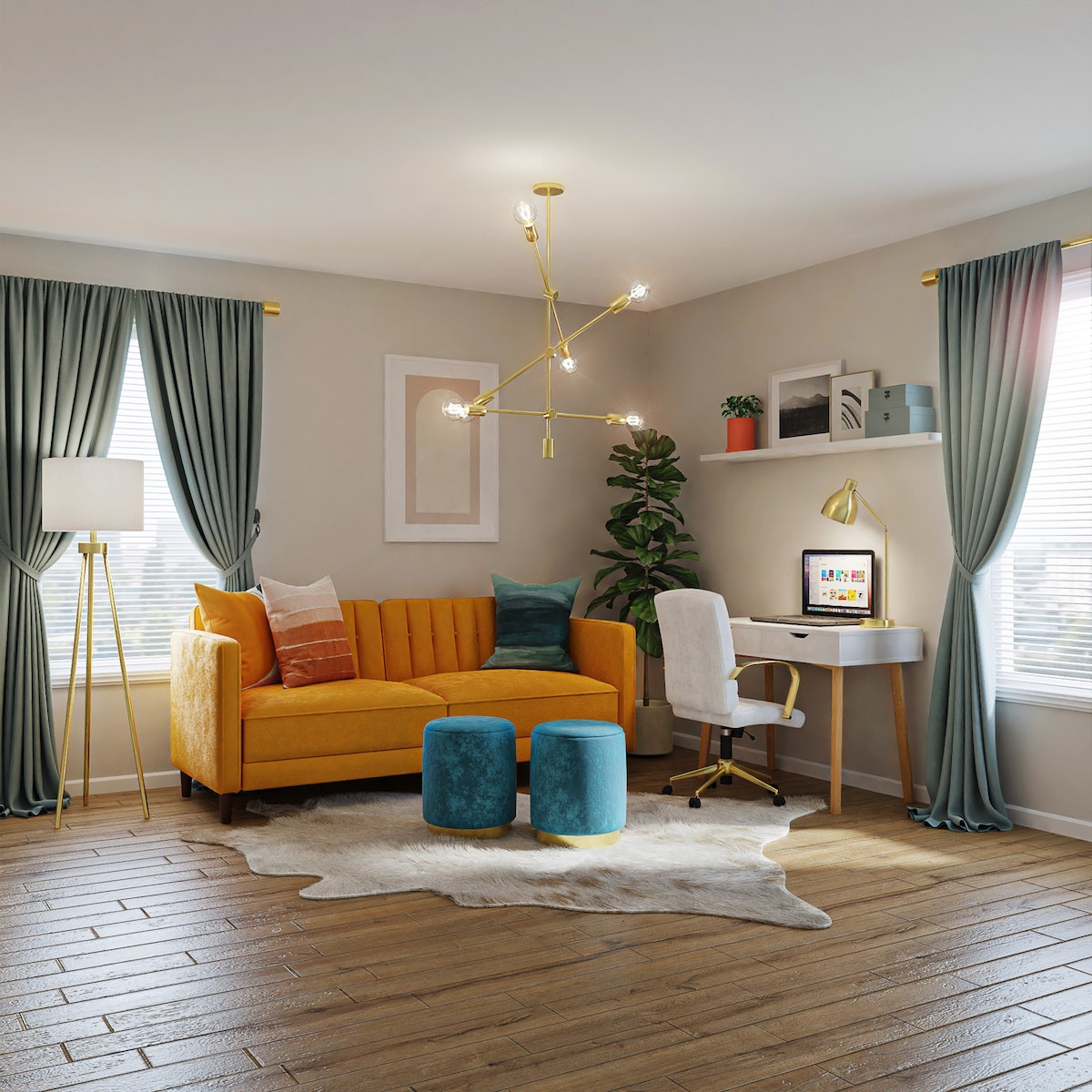 Small Orange Sofa
