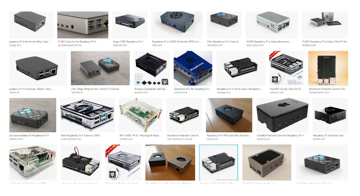 Google search result for Raspberry Pi Case
