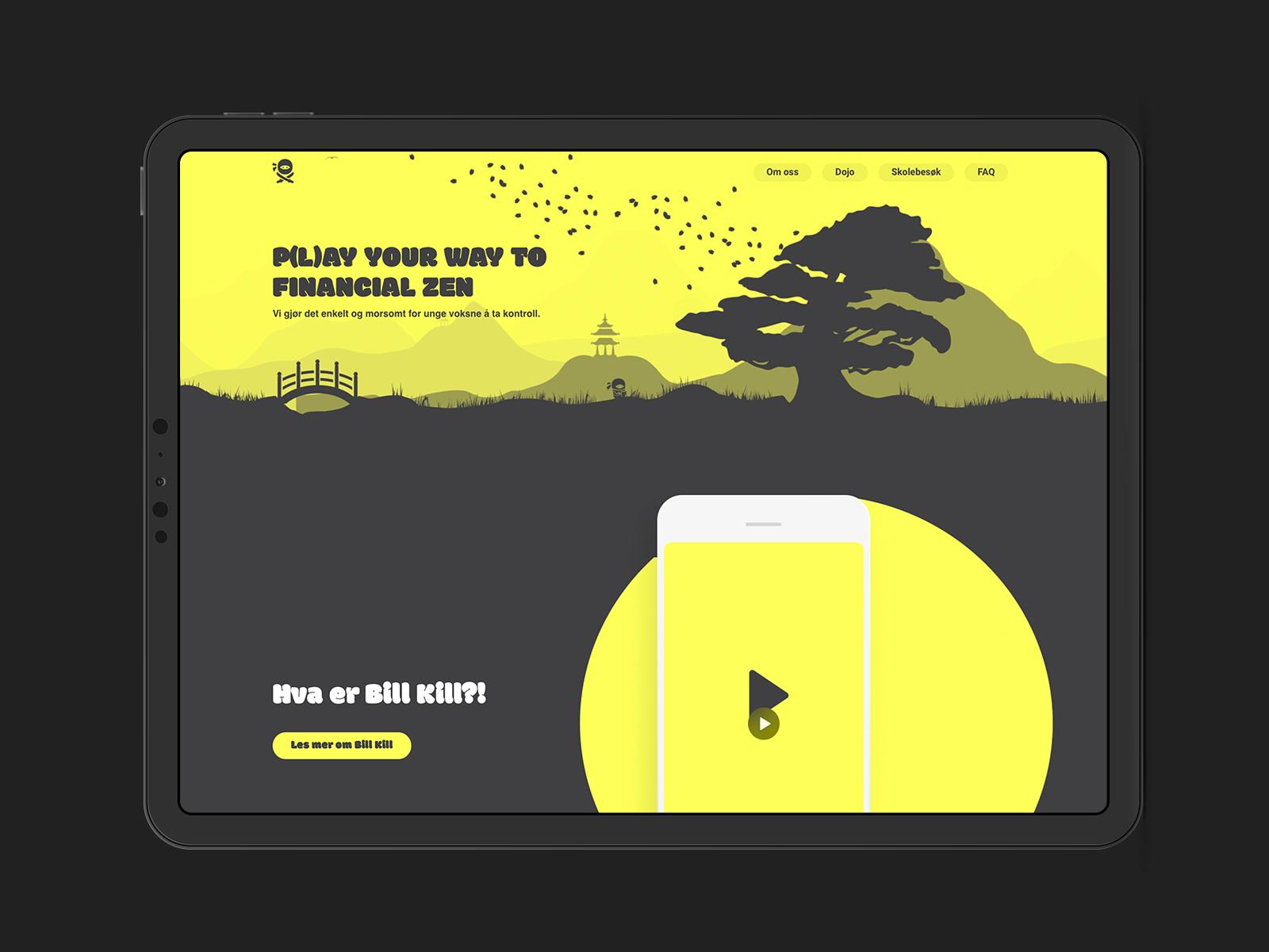 Bill Kill Homepage Design