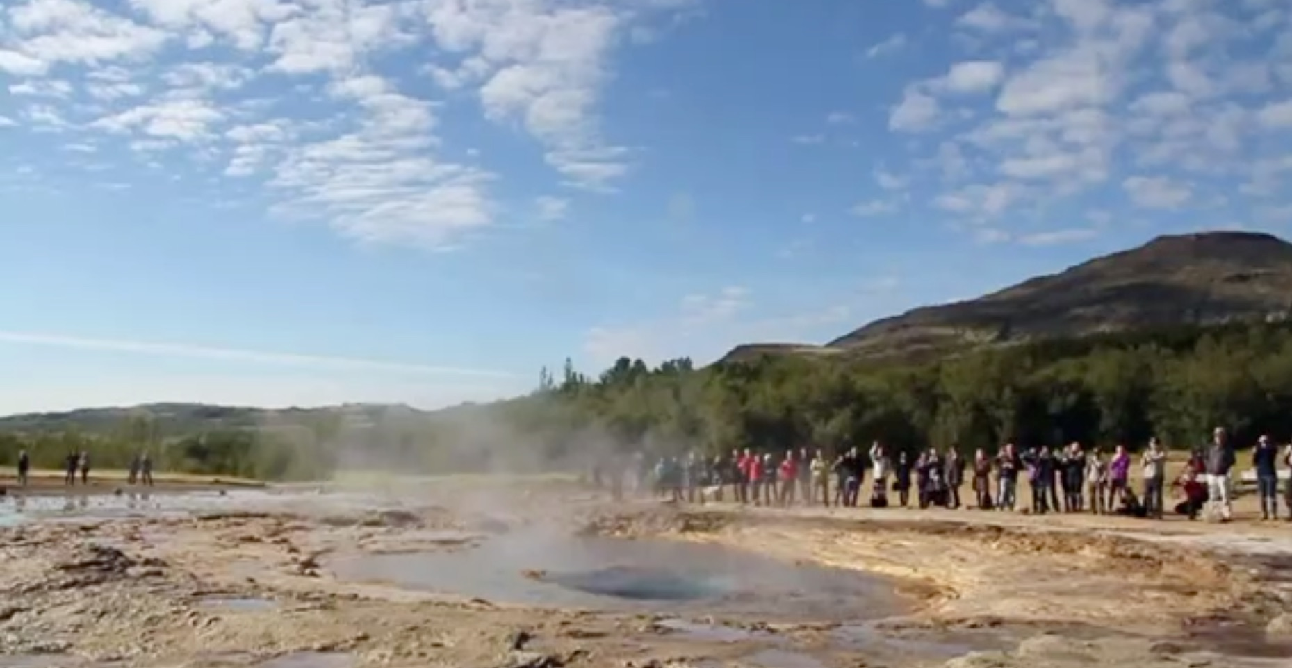 Geysir about to erupt